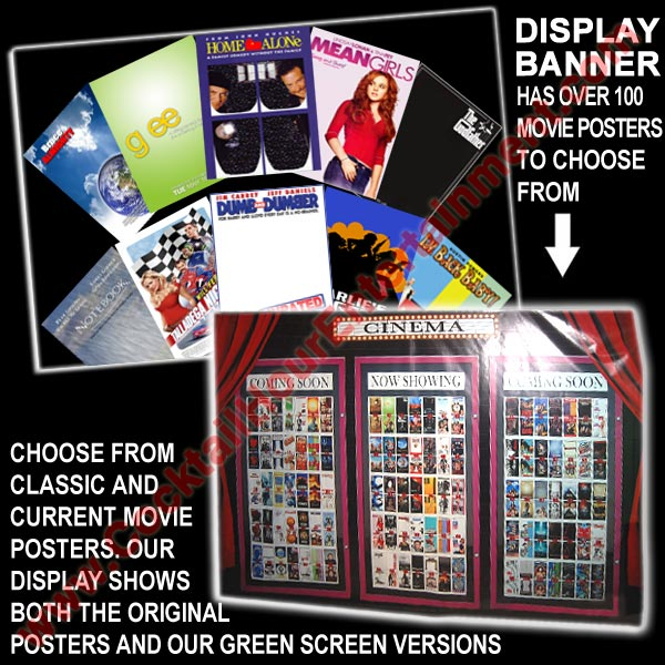 green screen movie poster display